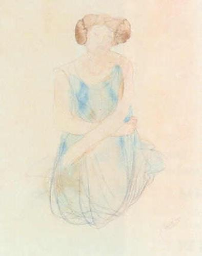 Seated Woman in a Dress, after 1900
