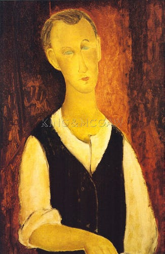Young Man with a Black Waistcoat, 1912