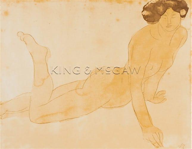 Femme nue allongee sur le ventre (small)