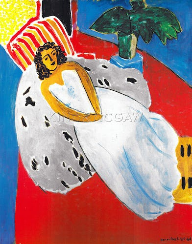 Reclining Nude in a White Dress
