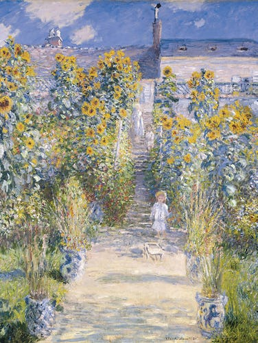 The Artist's Garden at Vetheuil, 1880