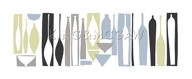 Silhouette - Porcelain (serigraph)