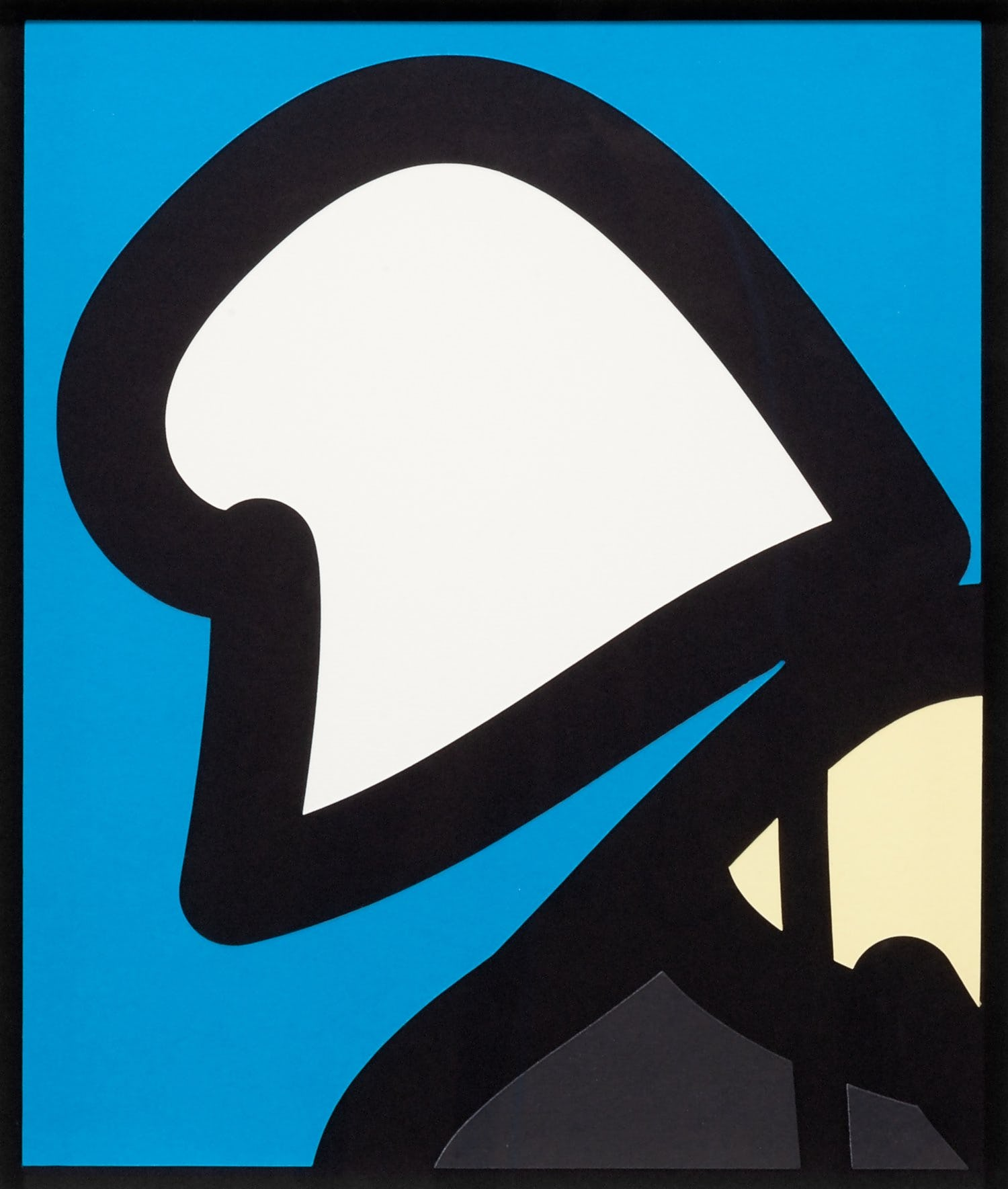 Beach head 8. Cut out poster by Julian Opie