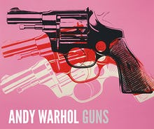 Gun, c.1981-82 (black, white, red on pink)