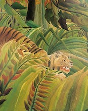 Detail from Tiger in Storm (Surprised I)