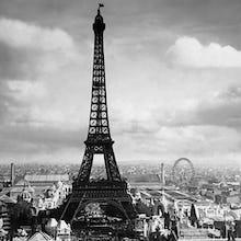 The Eiffel Tower, Paris France, 1897