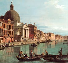 Venice: The Upper Reaches of the Grand Canal with S. Simeone Piccolo, c. 1738 (detail)