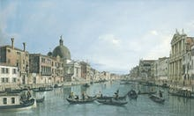 Venice: The Upper Reaches of the Grand Canal with S. Simeone Piccolo, c. 1738