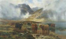 By Loch Treachlan Glencoe, Morning Mists, 1907