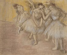 Five Dancers on Stage, c.1906
