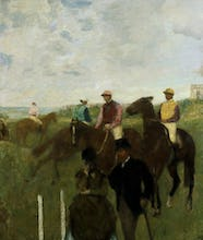 Jockeys at the Racecourse