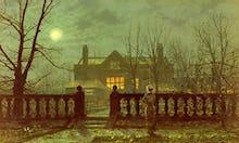Lady in a Garden by Moonlight, 1882