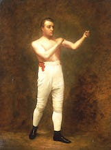 Portrait of a Boxer said to be Tom Sayers, c.1860