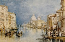 The Grand Canal Venice, with Gondolas and Figures in the Foreground