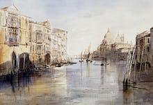 The Grand Canal with Santa Maria Della Salute, Venice, Italy, 1865