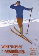 Wintersport in Graubunden, 1906