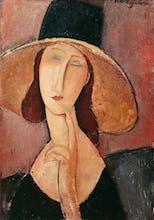 Portrait of Jeanne Hebuterne in a Large Hat, c.1918
