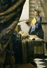The Artist's Studio, c.1665-6 (detail)