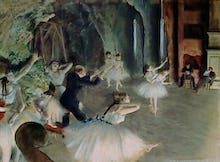 The Rehearsal of the Ballet on Stage, c.1878