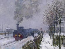 Train in the Snow, or The Locomotive, 1875