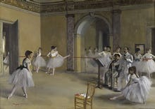 Ballet room at the opera in Rue Le Peletier