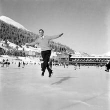 Ice skating, 1953