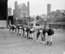 QPR footballers training, 1930s