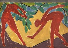Design for a folding screen - Adam and Eve