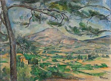 The Montagne Sainte Victoire with Large Pine
