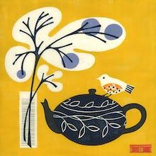 Yellow Bird on Teapot