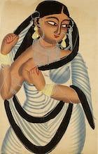 A Bengali courtesan, c.1890