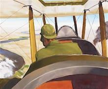 A British Pilot in a BE2c, 1919