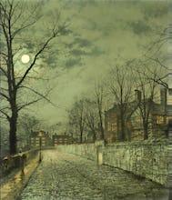 A Moonlit Road, 1880