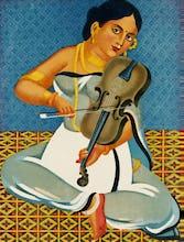 A courtesan with a violin, 1930
