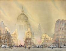 Air Raid on the City of London, 1940