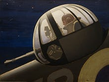 An Air Gunner in Action Turret - Night