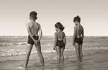 Beach holiday, late '40s