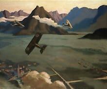 British Scouts leaving their Aerodrome, 1918