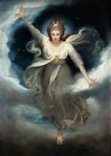 Georgiana as Cynthia from Spenser's 'Faerie Queene', 1781-82