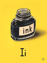I is for ink