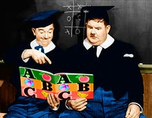 Laurel and Hardy (A Chump at Oxford) 1940