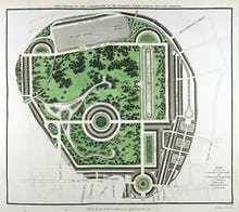 Plan of Regents Park, 1812