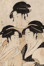 Portraits of three Japanese beauties