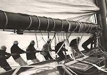 Sailing Teamwork - Hoisting Sail