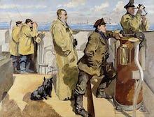 St George's Day 1918 - Bridge of HMS Canterbury