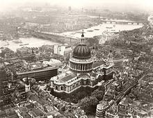 St Pauls from the air, late 1930s