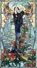 Stained Glass - Woman as a Butterfly