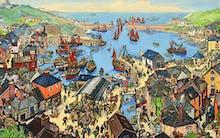 The British Scene - Fishing port scene, 1939-1946
