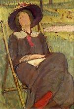 Virginia Woolf in a Deckchair, 1912