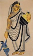 Yasoda taking Krishna for a walk, c.1890
